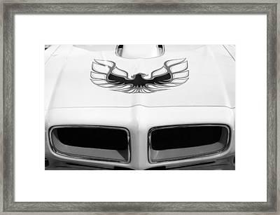 1975 Pontiac Trans Am Firebird Hood Painting Framed Print by Jill Reger