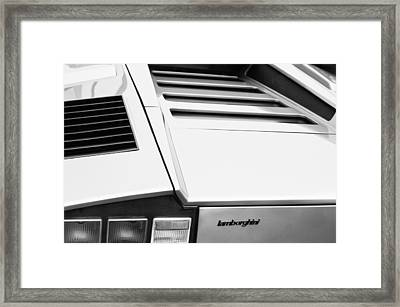 1976 Lamborghini Countach Lp400 Taillight Emblem Framed Print by Jill Reger