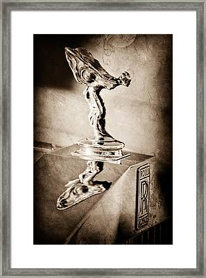 1976 Rolls Royce Silver Shadow Hood Ornament Framed Print by Jill Reger