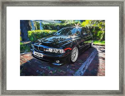 1999 Bmw 528i Sports Car Painted   Framed Print by Rich Franco
