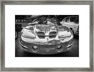 1999 Pontiac Trans Am Anniversary Edition Painted Bw    Framed Print