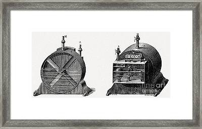 19th Century Gas Meter, Artwork Framed Print by CCI Archives