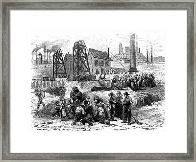 19th Century Mining Disaster Framed Print by Collection Abecasis