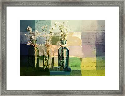 1-2-3 Bottles - J091112137 Framed Print by Variance Collections