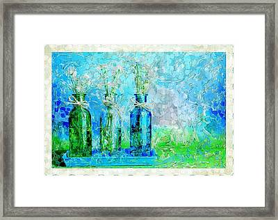 1-2-3 Bottles - S13ast Framed Print by Variance Collections