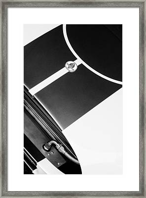 2001 Shelby Cobra Replica Hood Emblem Framed Print by Jill Reger