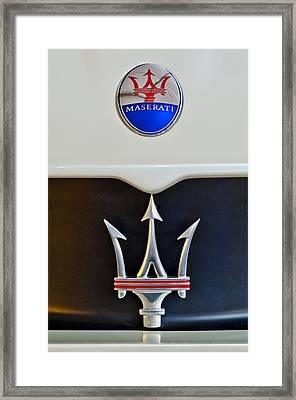 2005 Maserati Mc12 Hood Emblem Framed Print
