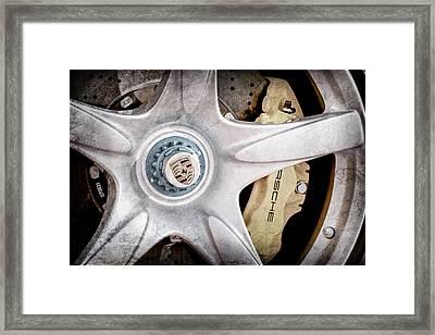 2005 Porsche Carrera Gt Wheel Emblem Framed Print by Jill Reger