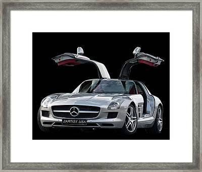 2010 Mercedes Benz Sls Gull-wing Framed Print