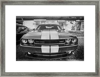 2012 Dodge Challenger Srt8 Hemi Bw    Framed Print