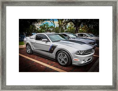 2012 Ford Roush Stage 3 Mustang Rs3 Painted  Framed Print by Rich Franco