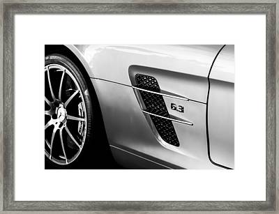2012 Mercedes-benz Sls Gullwing Wheel Framed Print by Jill Reger