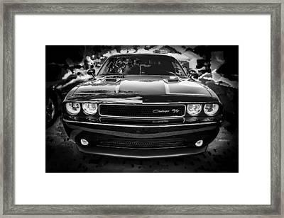 2013 Dodge Challenger Bw  Framed Print