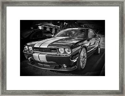 2013 Dodge Challenger Srt Bw Framed Print by Rich Franco