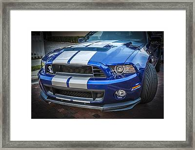 2013 Ford Mustang Shelby Gt 500  Framed Print by Rich Franco