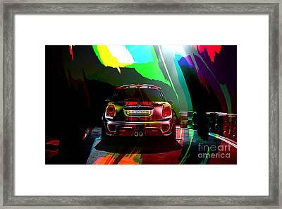 2014 John Cooper Works Mini Cooper Framed Print by Marvin Blaine