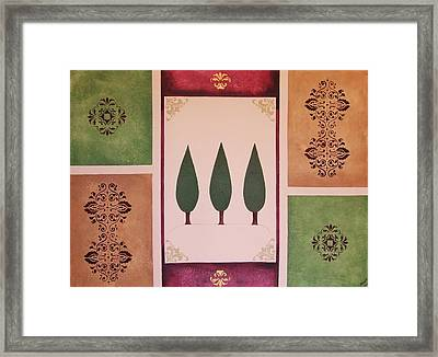 3 Cypress Framed Print by Cindy Micklos