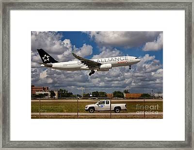 Avianca A-330 Airbus  Framed Print by Rene Triay Photography