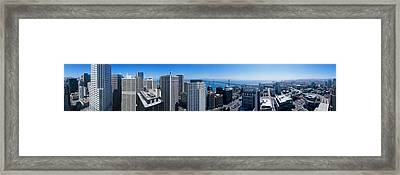 360 Degree View Of A City, Rincon Hill Framed Print