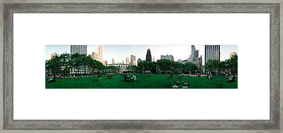 360 Degree View Of A Public Park Framed Print
