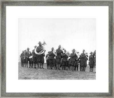 369th Infantry Regiment Band Framed Print by Underwood Archives