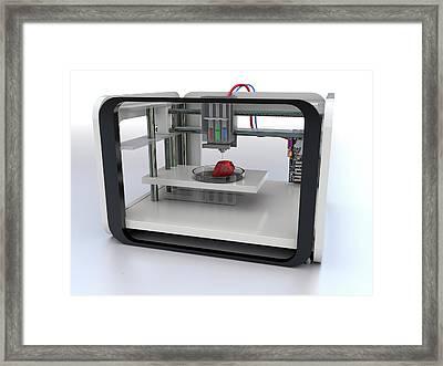 3d Printed Food Framed Print