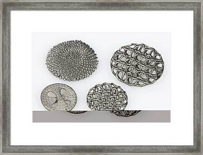 3d Printed Objects Framed Print