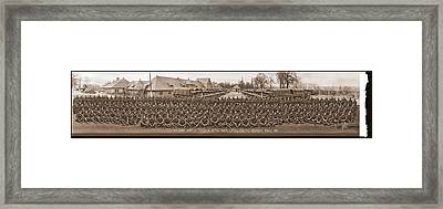 3rd Army Supply Train, And Motor Park Framed Print