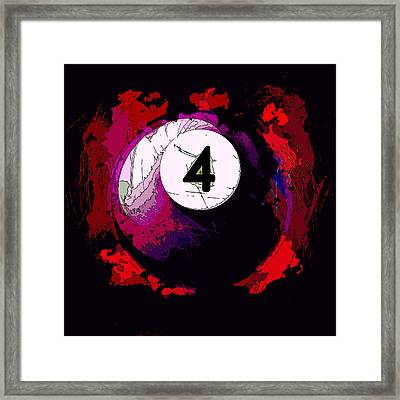 4 Ball Billiards Abstract Framed Print by David G Paul