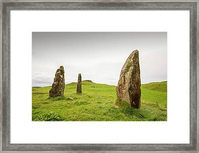 4000 Year Old Standing Stones Framed Print by Ashley Cooper
