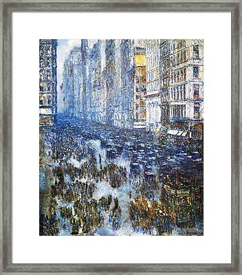 Fifth Avenue Framed Print by Childe Hassam