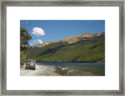 4wd On Track Around North Mavora Lake Framed Print by David Wall