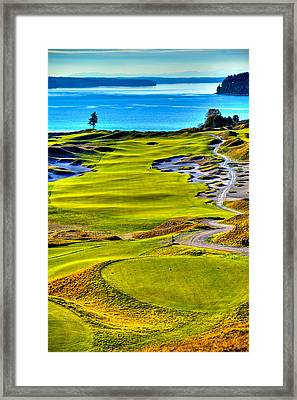 #5 At Chambers Bay Golf Course - Location Of The 2015 U.s. Open Tournament Framed Print