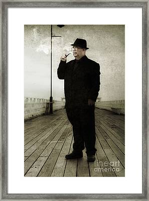 50s Detective Smoking Pipe Framed Print