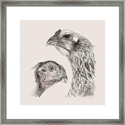 51. Game Hens Framed Print