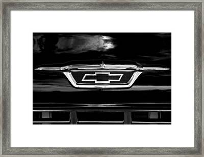 56 Bow Tie In Bw Framed Print by Don Durante Jr