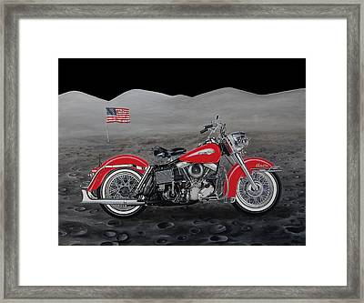'64 Red Panhead Framed Print by Sharma Wolff