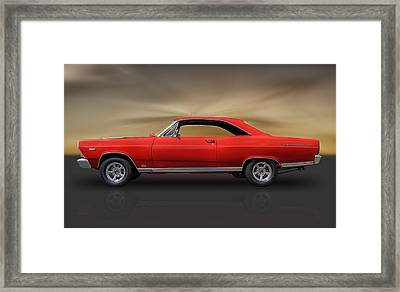 66 Ford Fairlane 500 - 390 Gta Framed Print by Frank J Benz