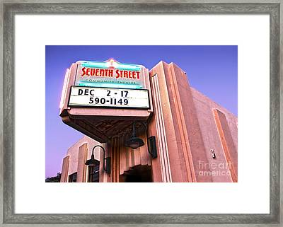 7th Street Theatre - Chino Ca Framed Print by Gregory Dyer