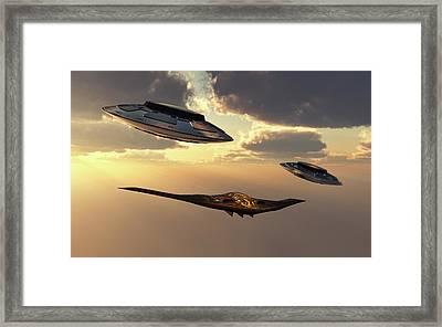 A B-2 Spirit Stealth Bomber Framed Print