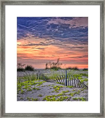 A Beach Sunset Framed Print