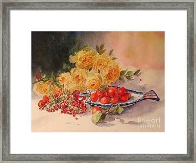 Framed Print featuring the painting A Berry Or Two by Beatrice Cloake