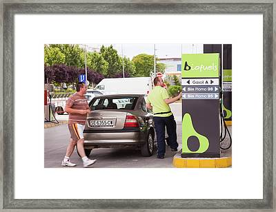 A Bio Fuel Petrol Station In Ecija Framed Print