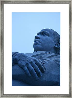 Framed Print featuring the photograph A Blue Martin Luther King - 1 by Cora Wandel