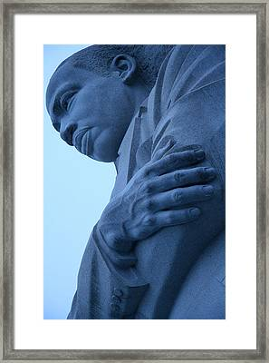 Framed Print featuring the photograph A Blue Martin Luther King - 2 by Cora Wandel