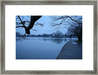Framed Print featuring the photograph A Blue Morning For Jefferson by Cora Wandel