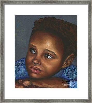 A Boy Framed Print