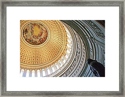 Framed Print featuring the photograph A Capitol Rotunda by Cora Wandel