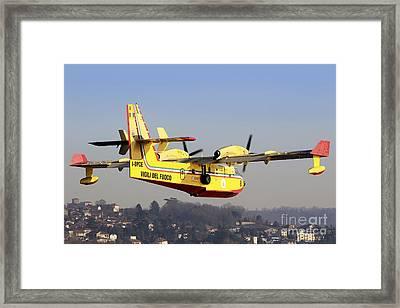 A Cl-415 Italian Fire Hunter Framed Print