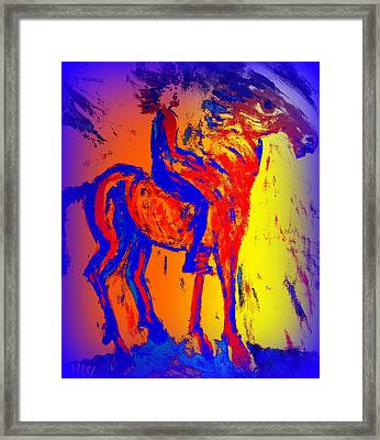 We Have Such A Colorful Life Together As A Team  Framed Print by Hilde Widerberg